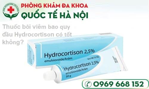 Thuốc bôi viêm bao quy đầu Hydrocortione có tốt không