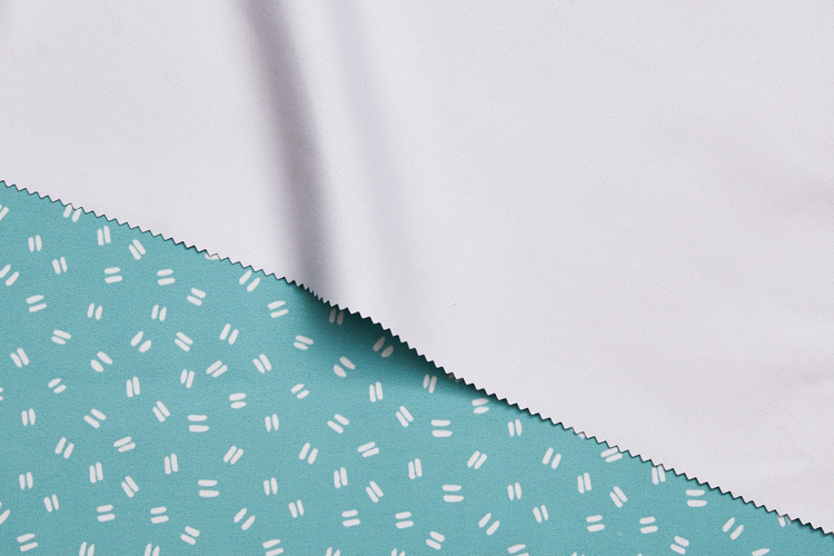 Block Out White Printed Fabric