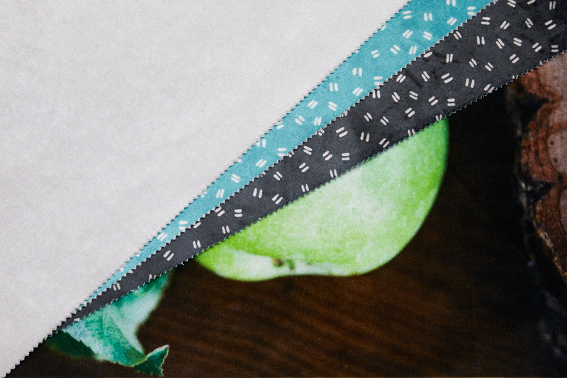 Shimmer Velvet Printed Fabric
