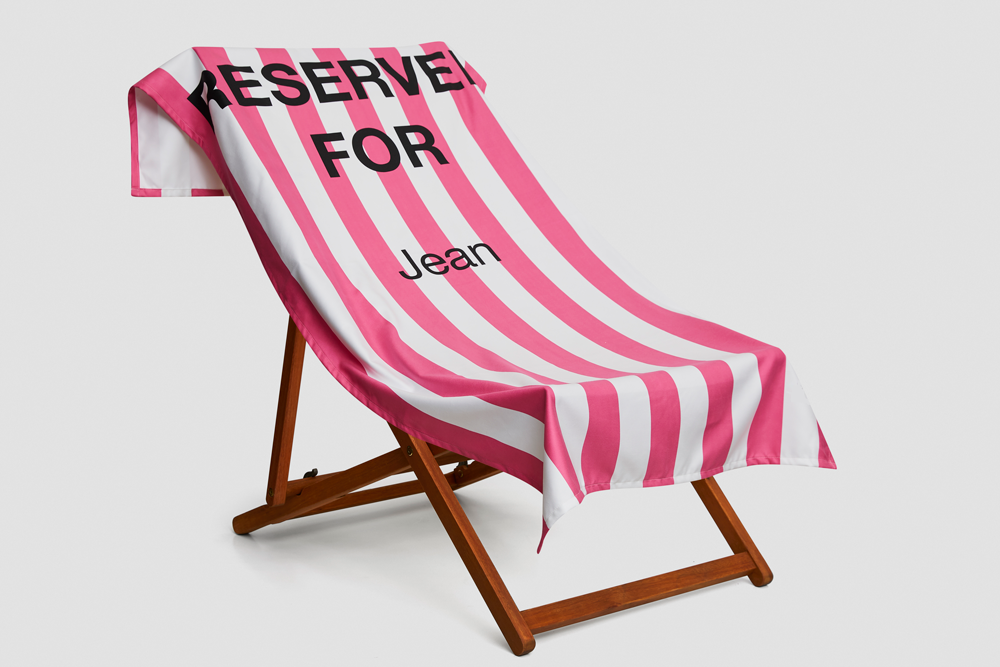 Personalised Reserved Towels - Any Colour