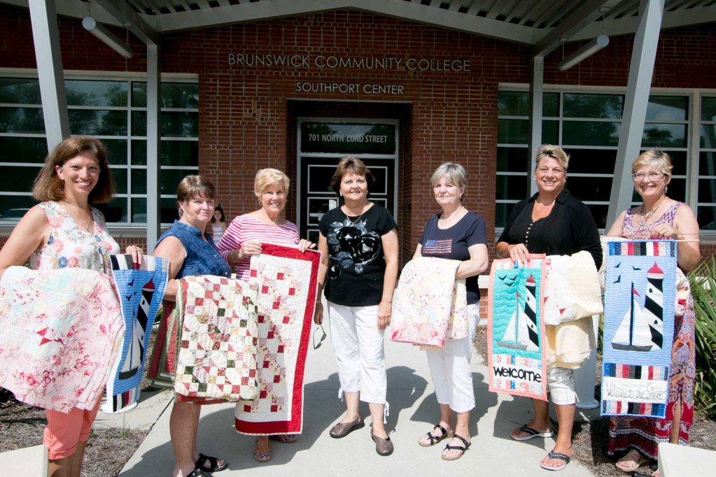 Cheryl Mills teaches quilting and fabric arts classes at Brunswick Community College