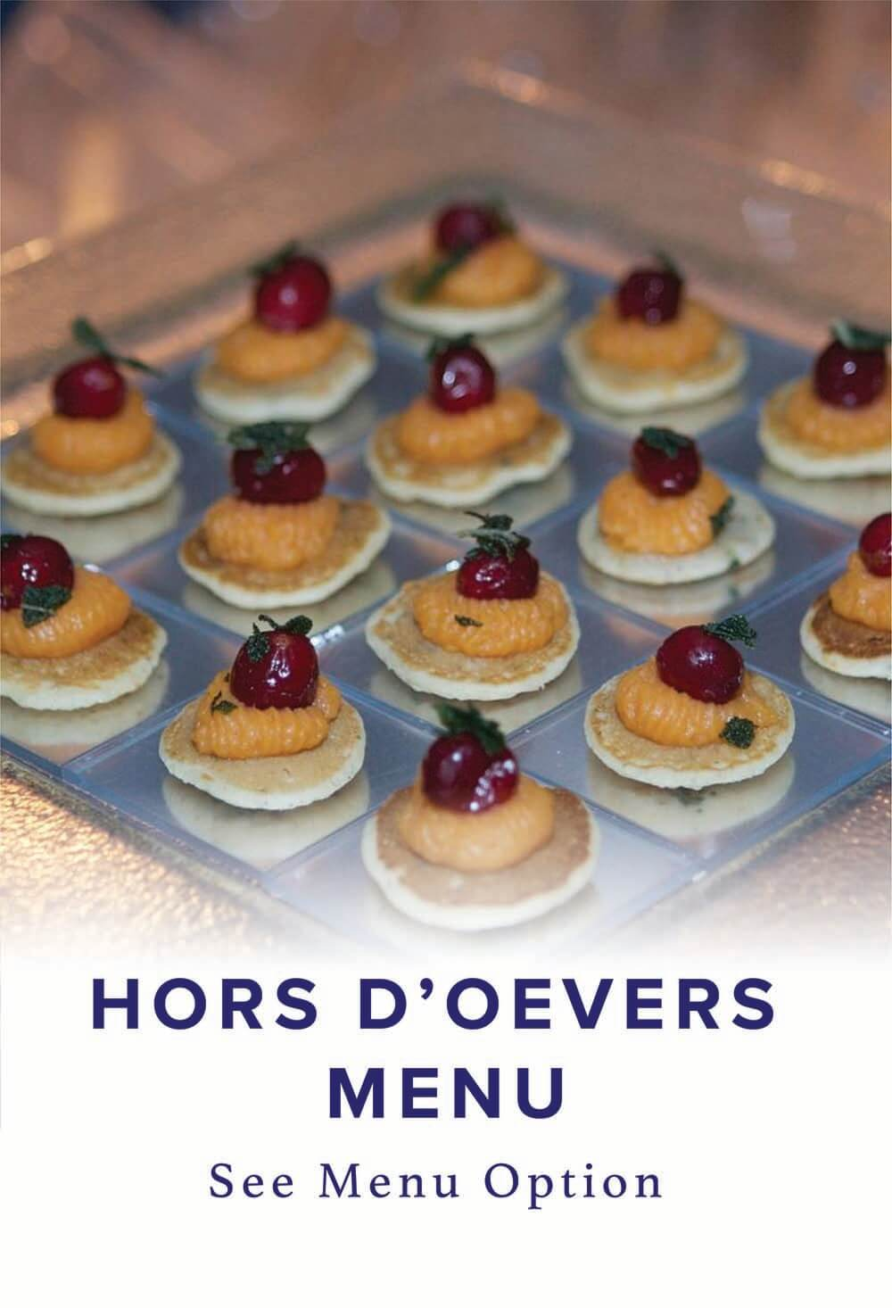 Hors D'Oeuvres Menu selection