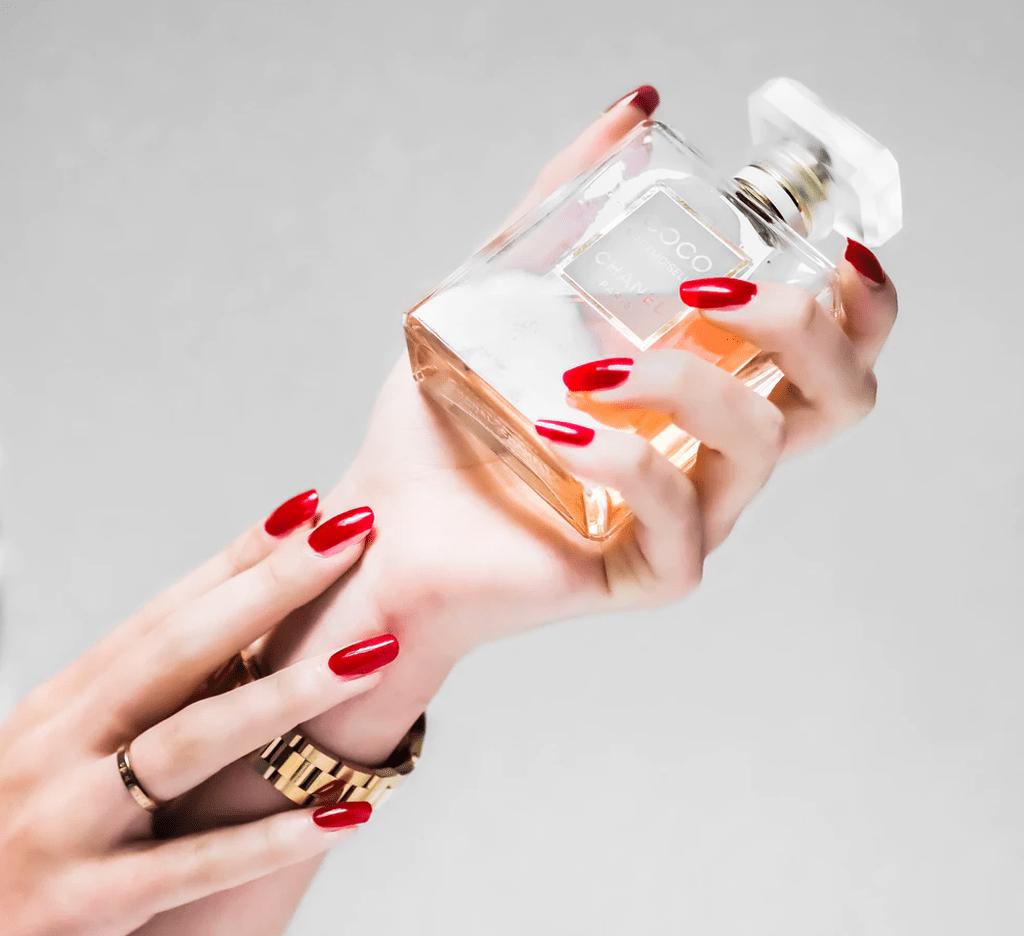 applying perfume