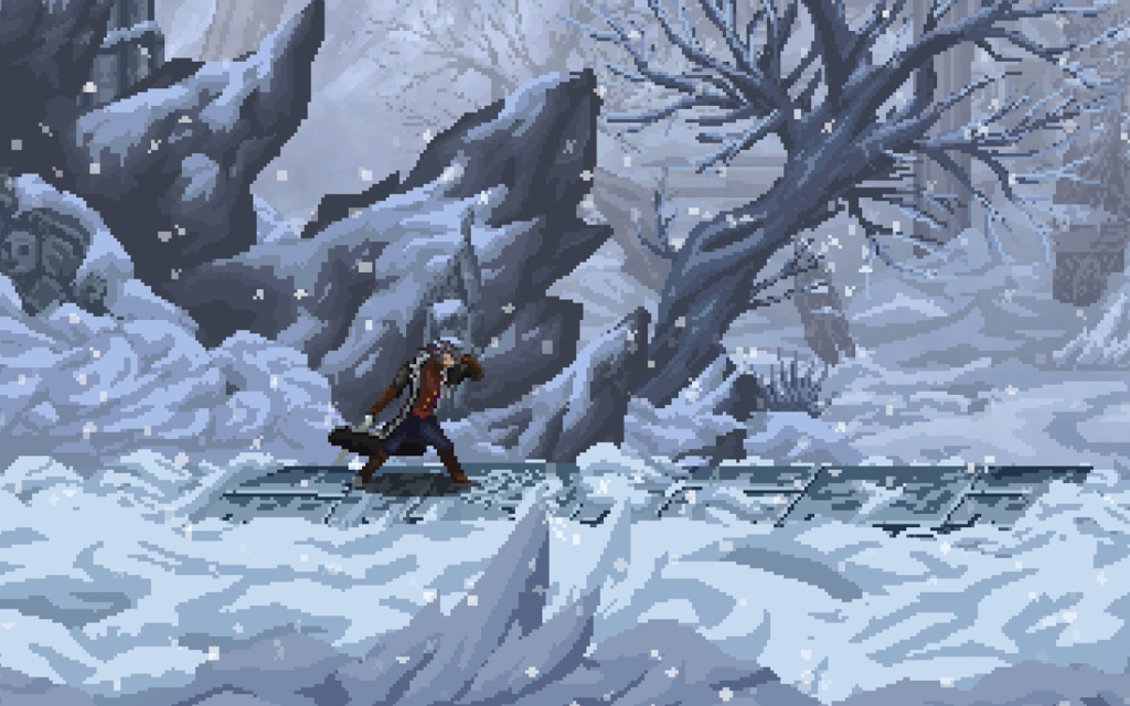 snow blizzard environment