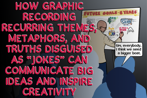 How Graphic Recording Themes & Truths Disguised As Jokes Communicates Big Ideas & Inspires Creativity