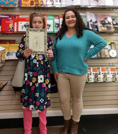 Congratulations to Columbia Arts Academy Piano Lesson Student Susan Faith for earning her Master (Three Year!) Wristband! She studies with instructor Stephanie.