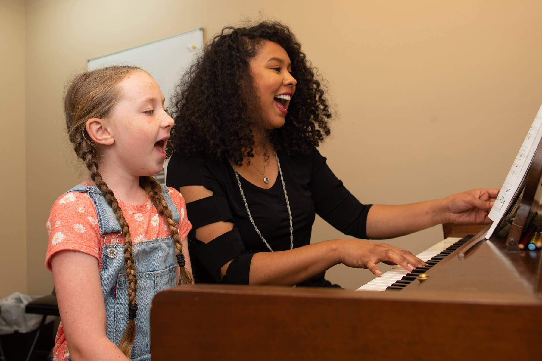 Student takes voice lessons at Lexington School of Music