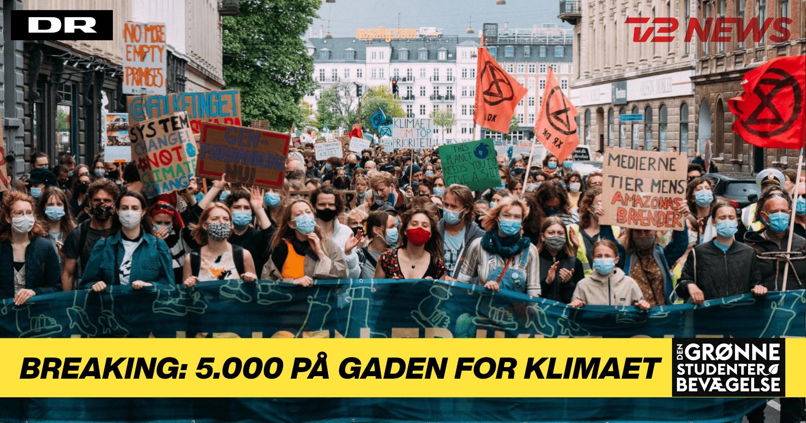 DR & TV2 Breaking: 5.000 mennesker til stor klimamarch i lørdags