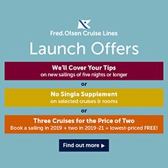Free Drinks & Tips on almost every Fred. Olsen cruise