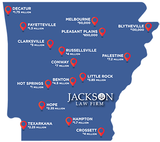 Jackson Law Firm Verdict Map