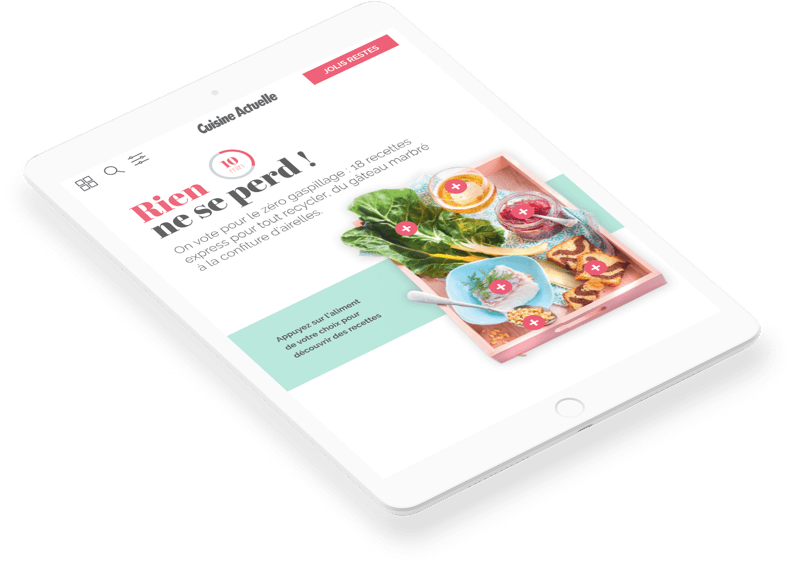 Article screen of Cuisine Actuelle ebook interface