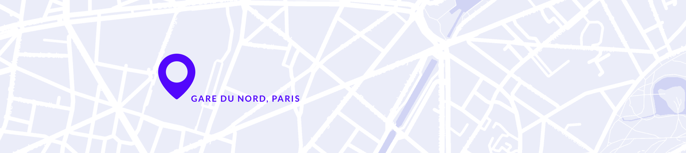 Map of Paris, zoomed on Gare Du Nord