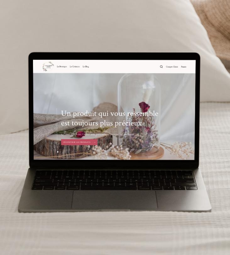 Macbook avec web design intégré