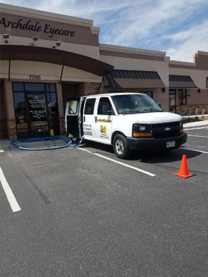Commercial Carpet Cleaning at Archdale Eyecare, CO