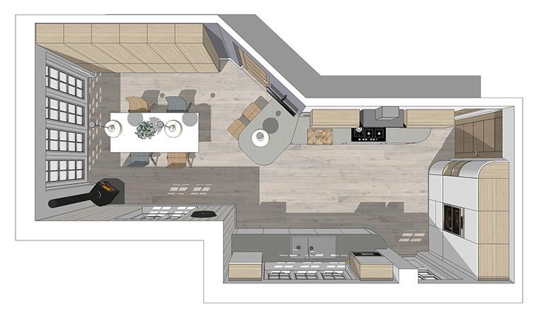 Detailed Kitchen Plans