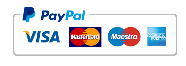 Accepts Paypal, Visa, MC, Maestro and American Express