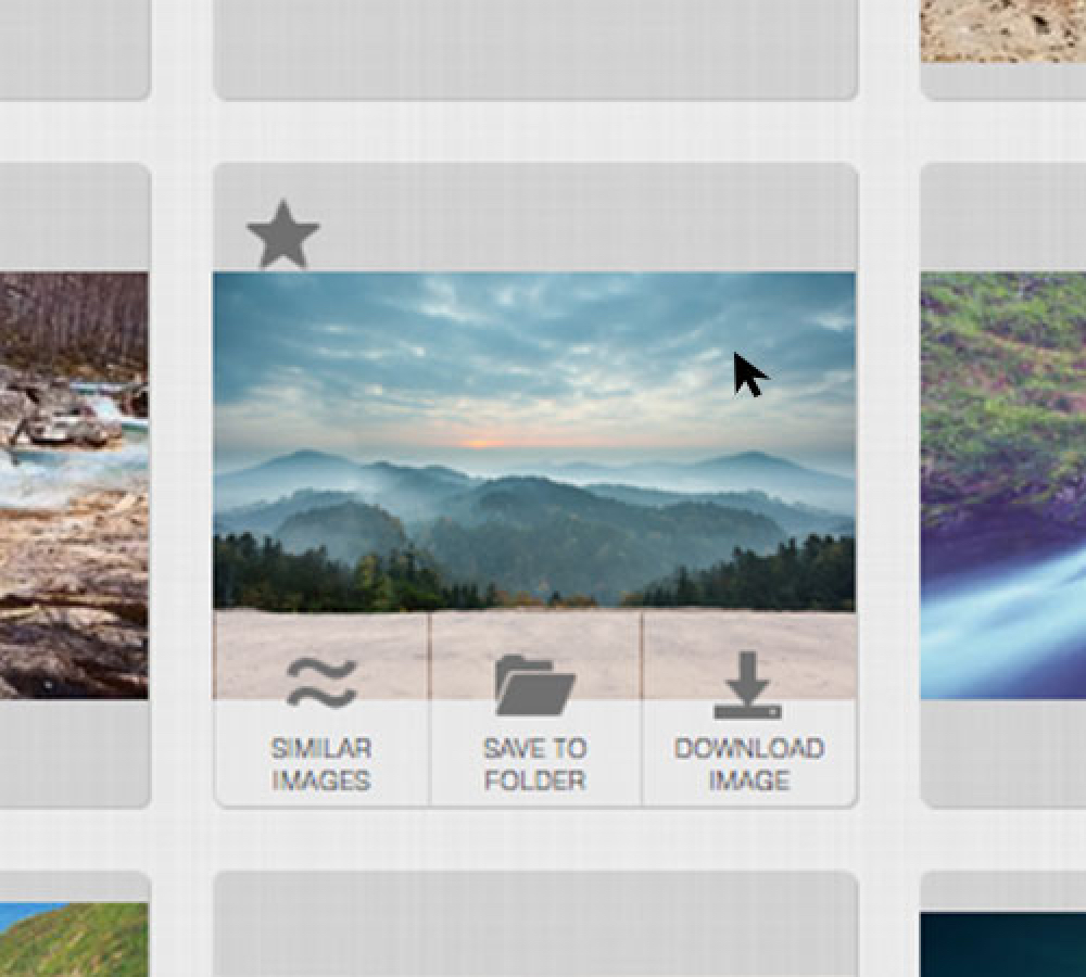 YayImages search page image hover