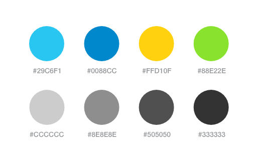 YayImages search page color palette