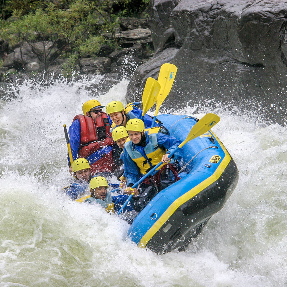 White water rafting at the Upper Gauley River, WV