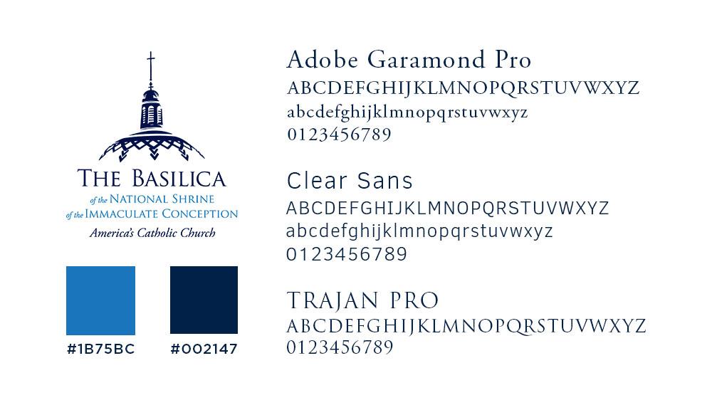 Basilica's brand identity elements