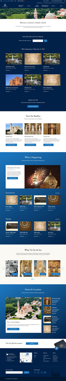 Basilica's Plan Your Visit Page Mockup