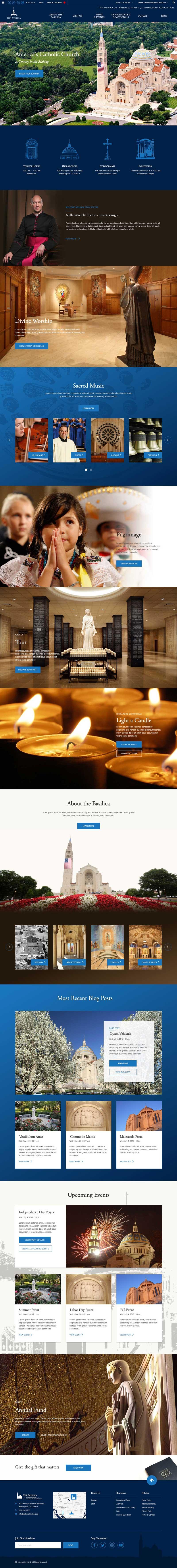 Basilica's Home Page Mockup