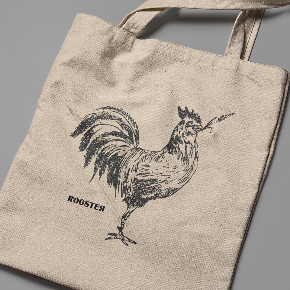 Rooster Totem Bag - Bolsa de Tela Rooster