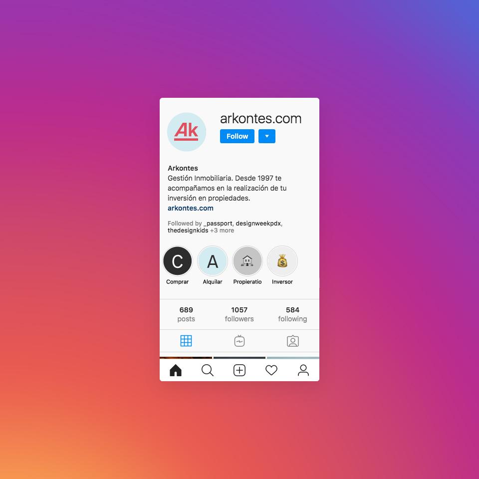 Arkontes Instagram profile -  Arkontes perfil instagram