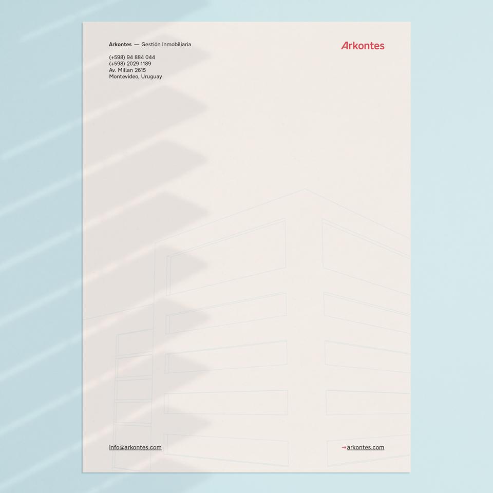 Arkontes hoja membretada - Arkontes letterhead