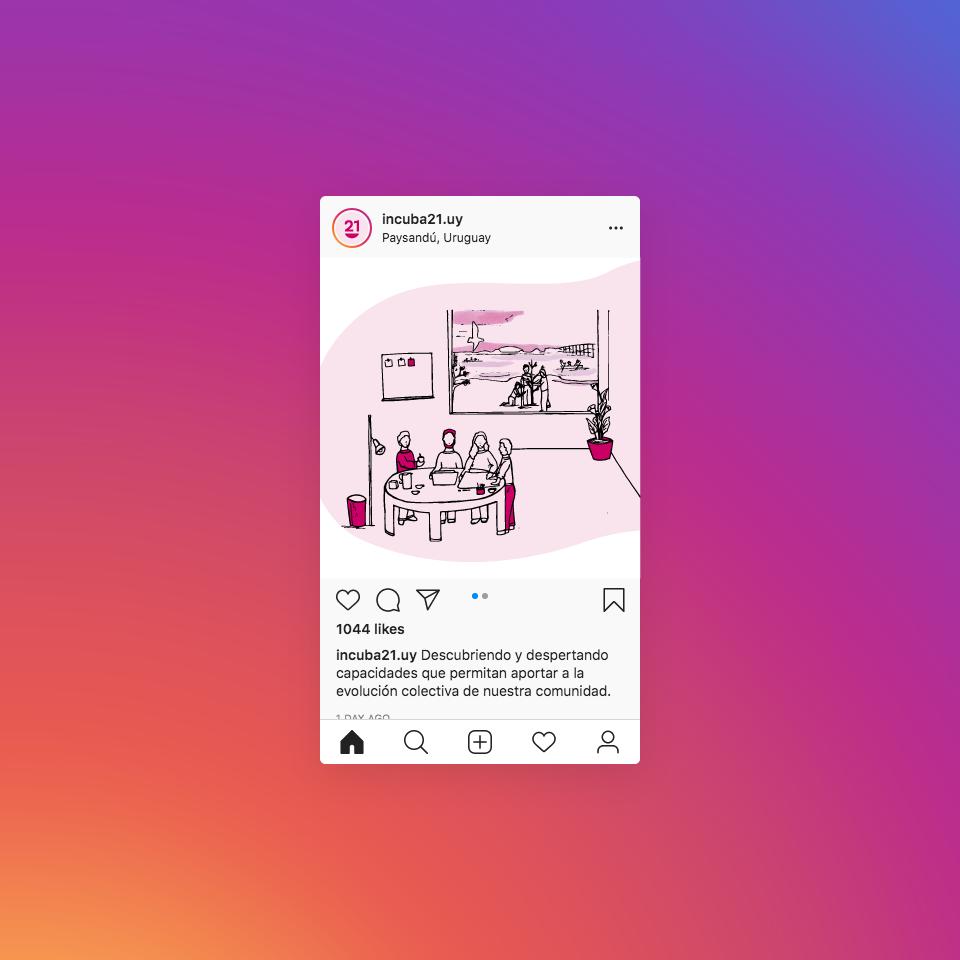 Incuba21 Instagram Post