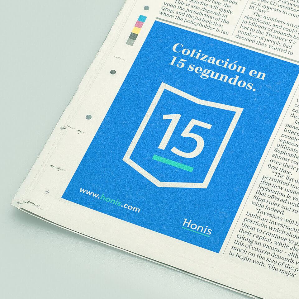 honis propaganda on a newspaper