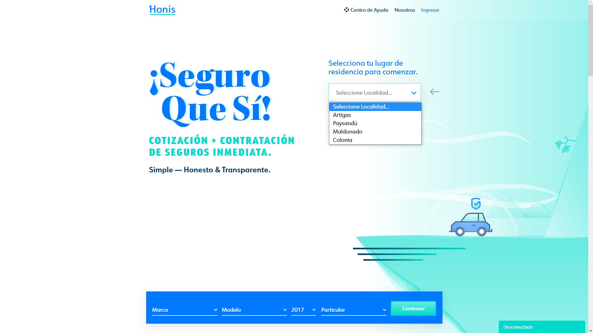 User interface -  Honis