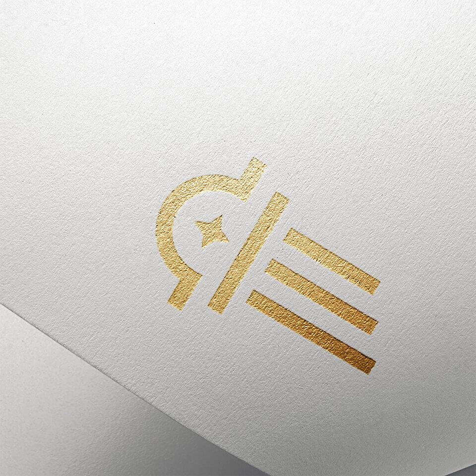 Logo application on paper