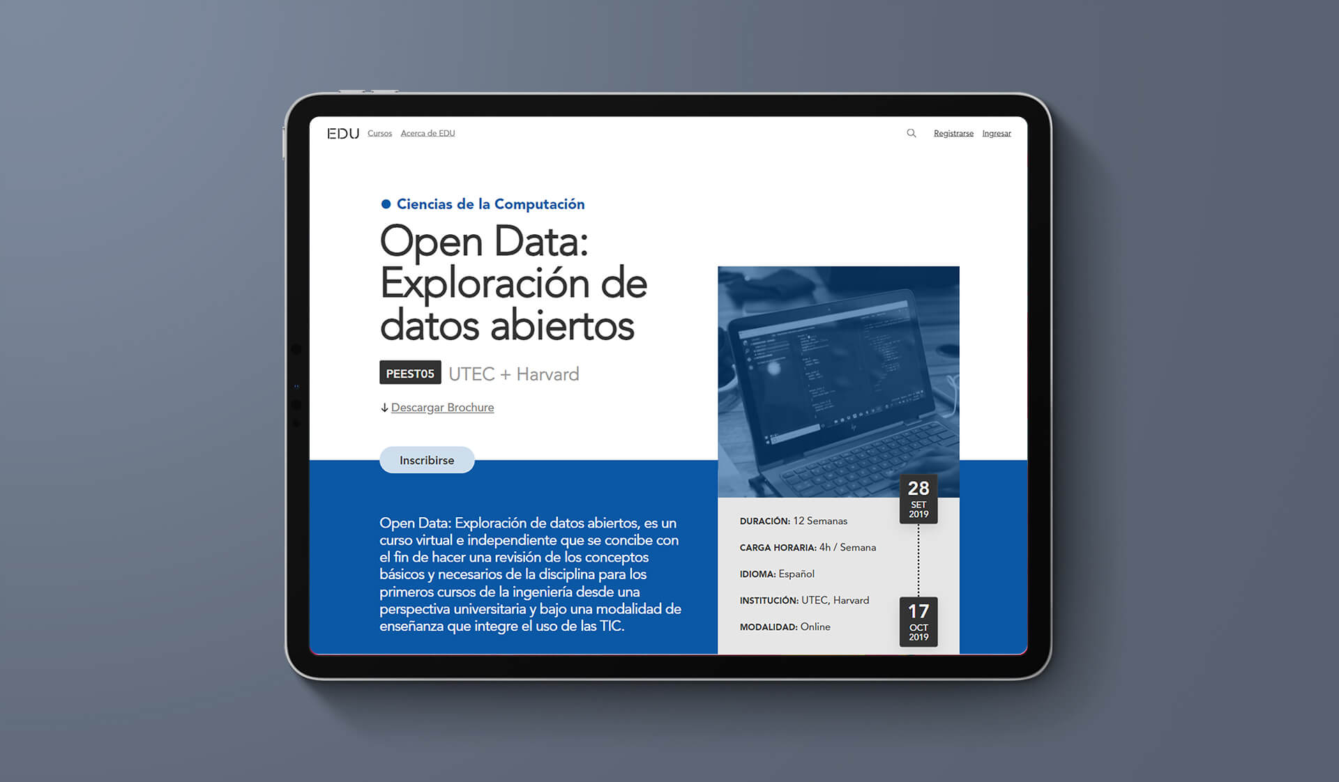 Website responsive on iPAd pro
