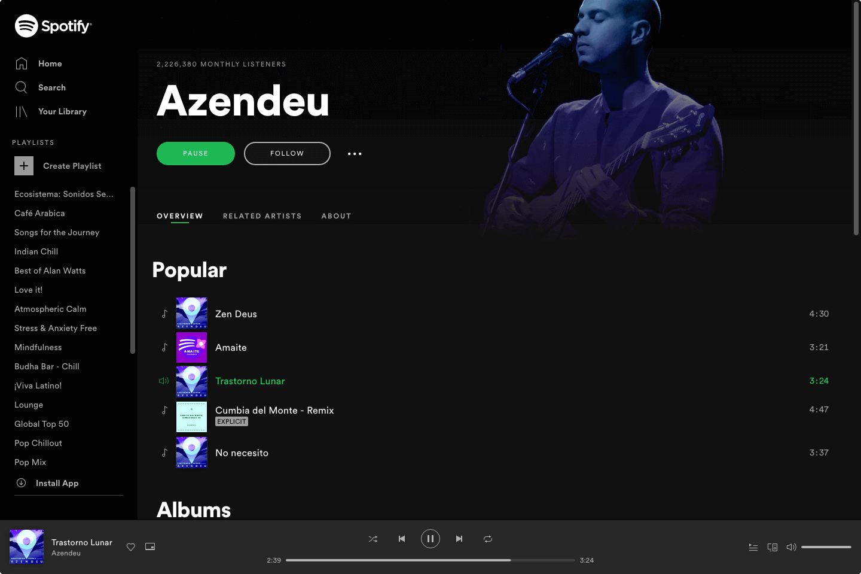 Azendeu on spotify