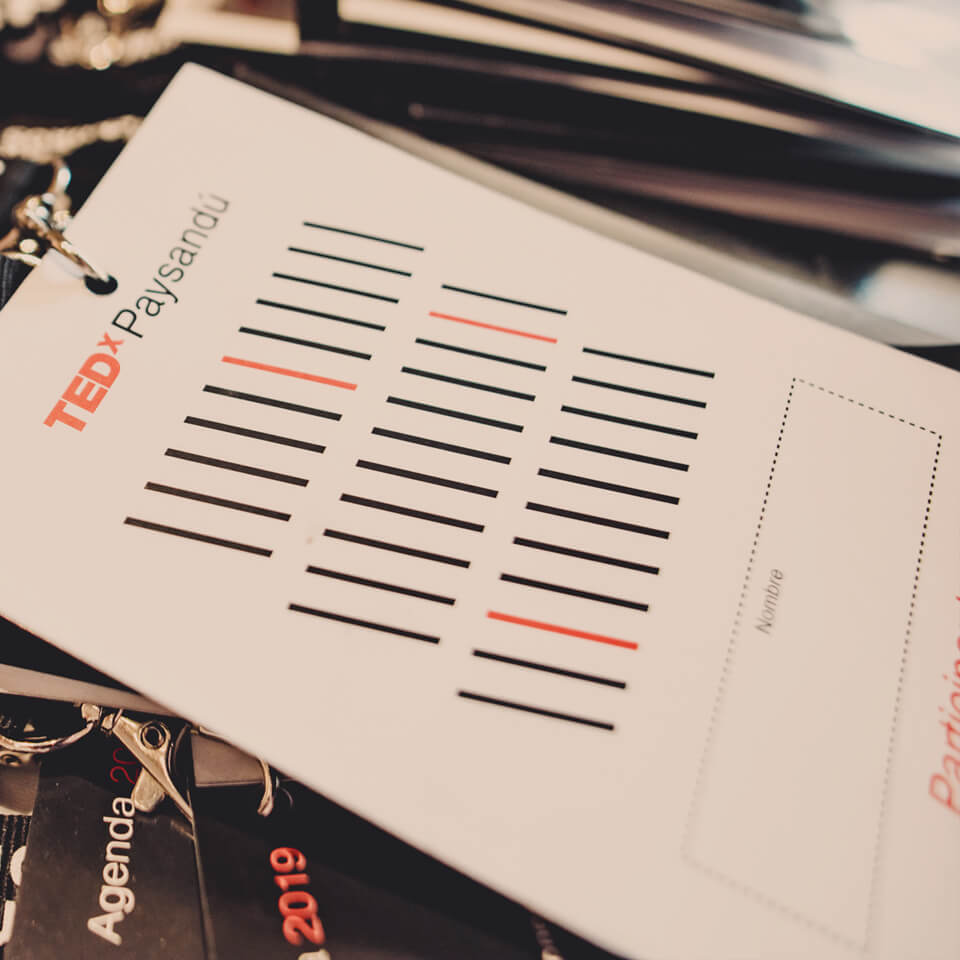TEDx Paysandú Personal card