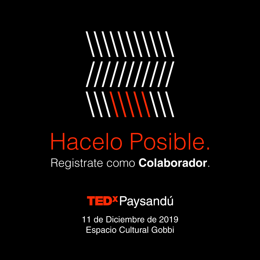 TEDx Paysandú colaborator invitation
