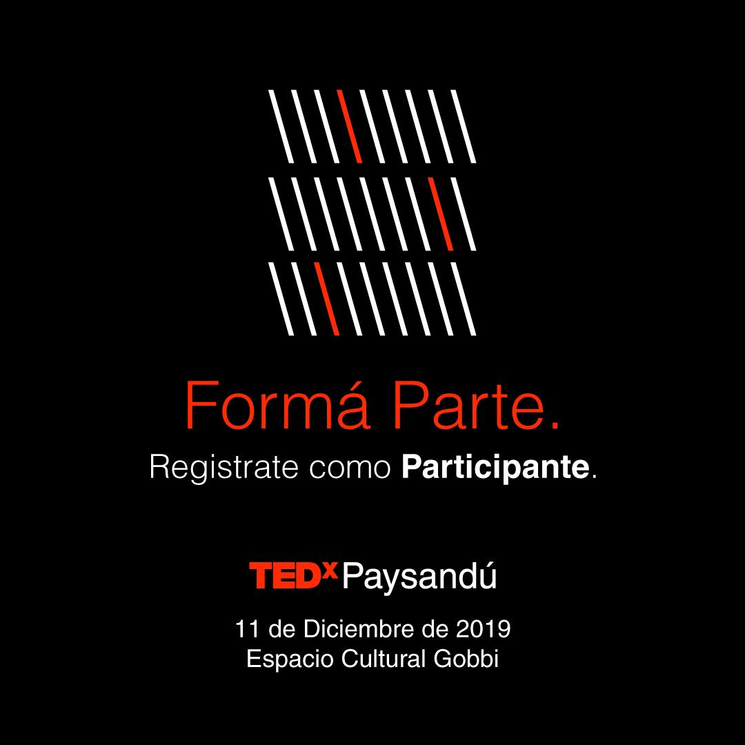 TEDx Paysandú participant invitation