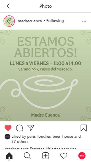 Madre Cuenca's instagram