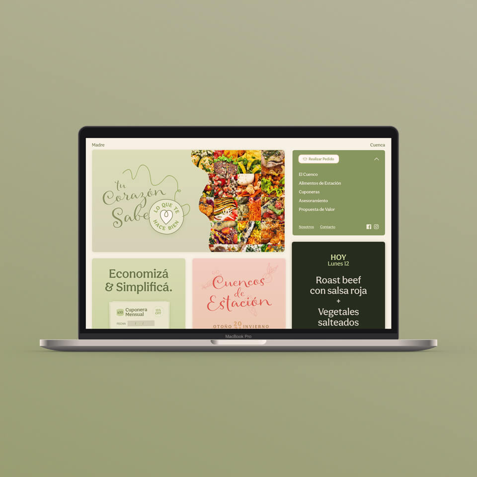 Madre Cuenca's webpage