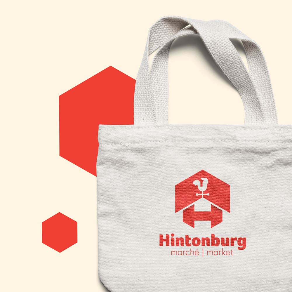 Tote bag with branding identity