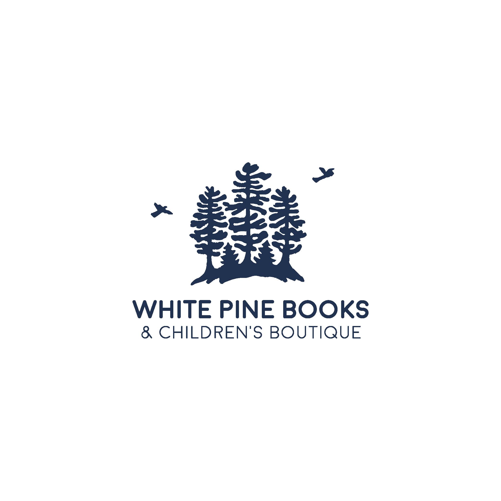 white pine books logo design