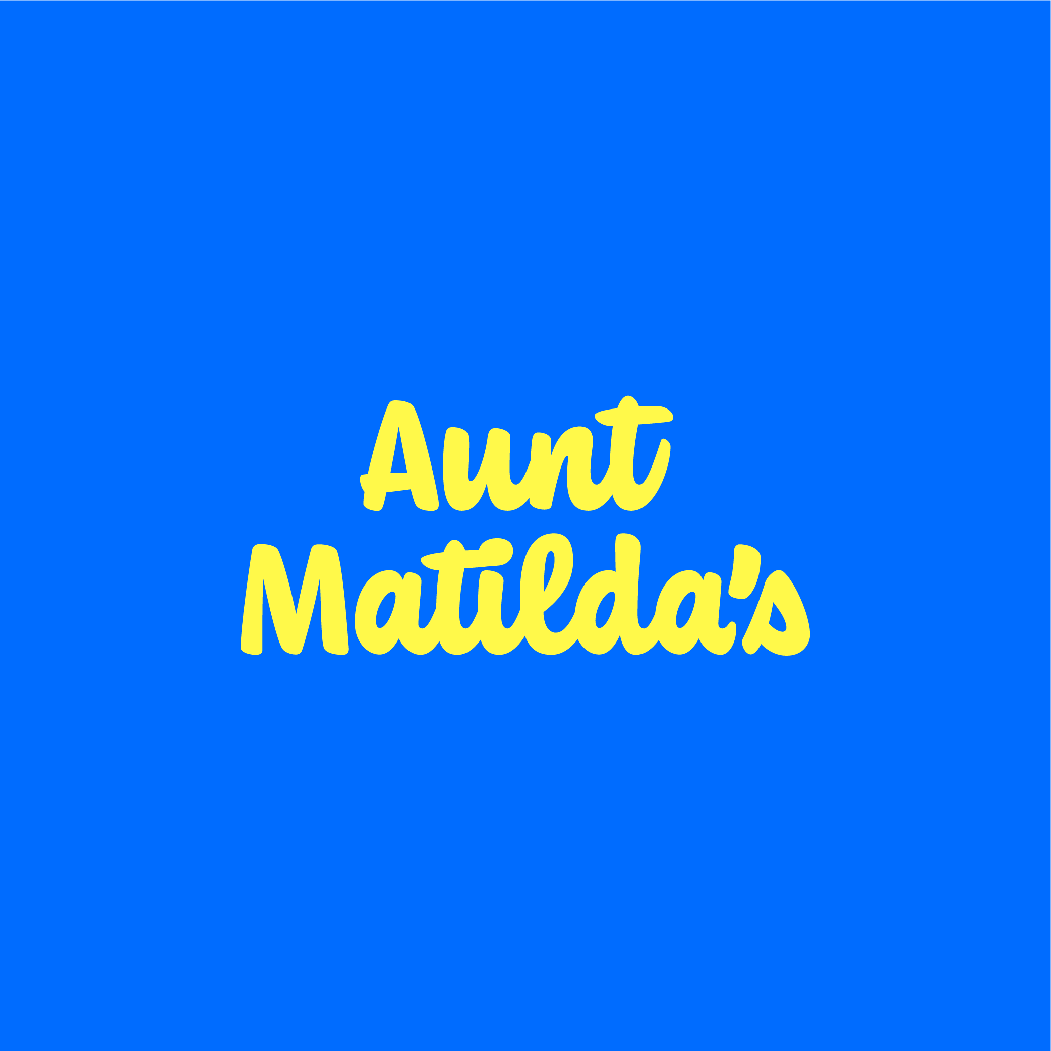 Aunt Matilda's logo design