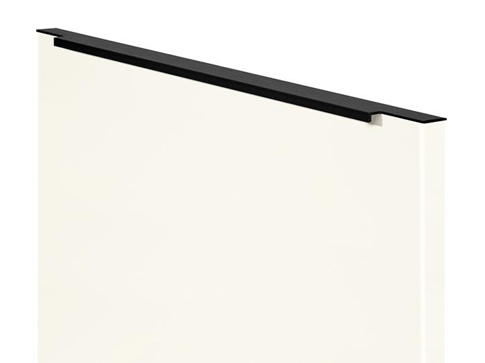 Bar handle, Black, in door width