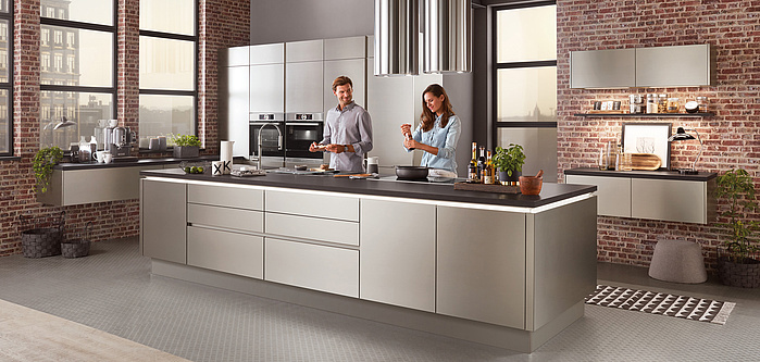 Nobilia Inox 216 Kitchen