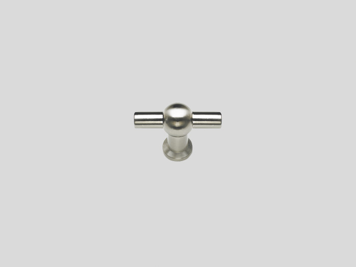 Knob, Stainless steel finish, Gloss