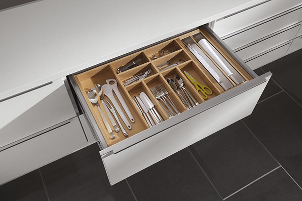 Beech Cutlery Insert with 2x Foil Dispensers