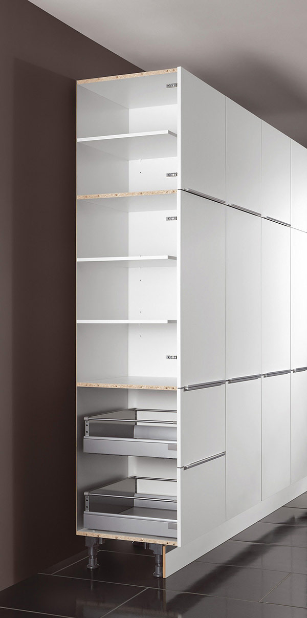 Demo Image: Tall Unit with Shelves Construction