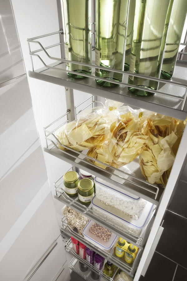 Tall Larder with Pullout Tablar Shelves