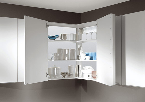 Corner Wall Unit with Shelves